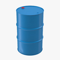 3d model steel oil drum