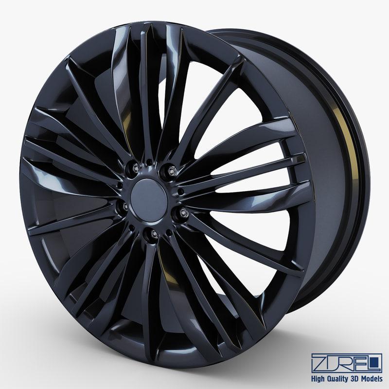 3d max style 332 wheel black