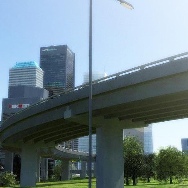 3d model street highway