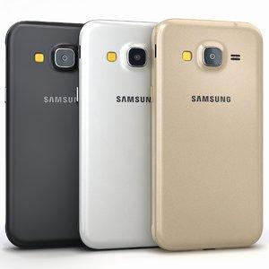 3d model of samsung galaxy j3 colors