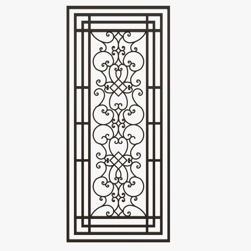 wrought iron gate 3d c4d