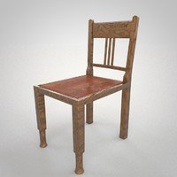 3d chair harrow model