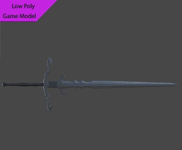 free sword 3d model