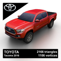 toyota tacoma 2016 pickup truck 3d 3ds