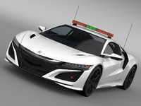 acura nsx safety car 3d 3ds