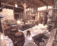 blacksmith interior props 3d model