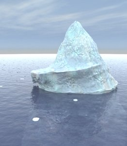 3d iceberg ice berg