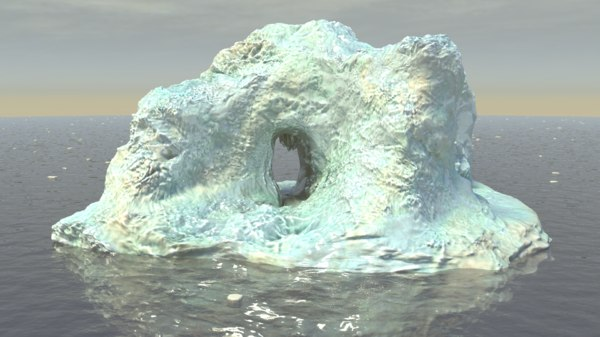 iceberg ice berg 3d model