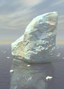 iceberg ice berg 3d obj