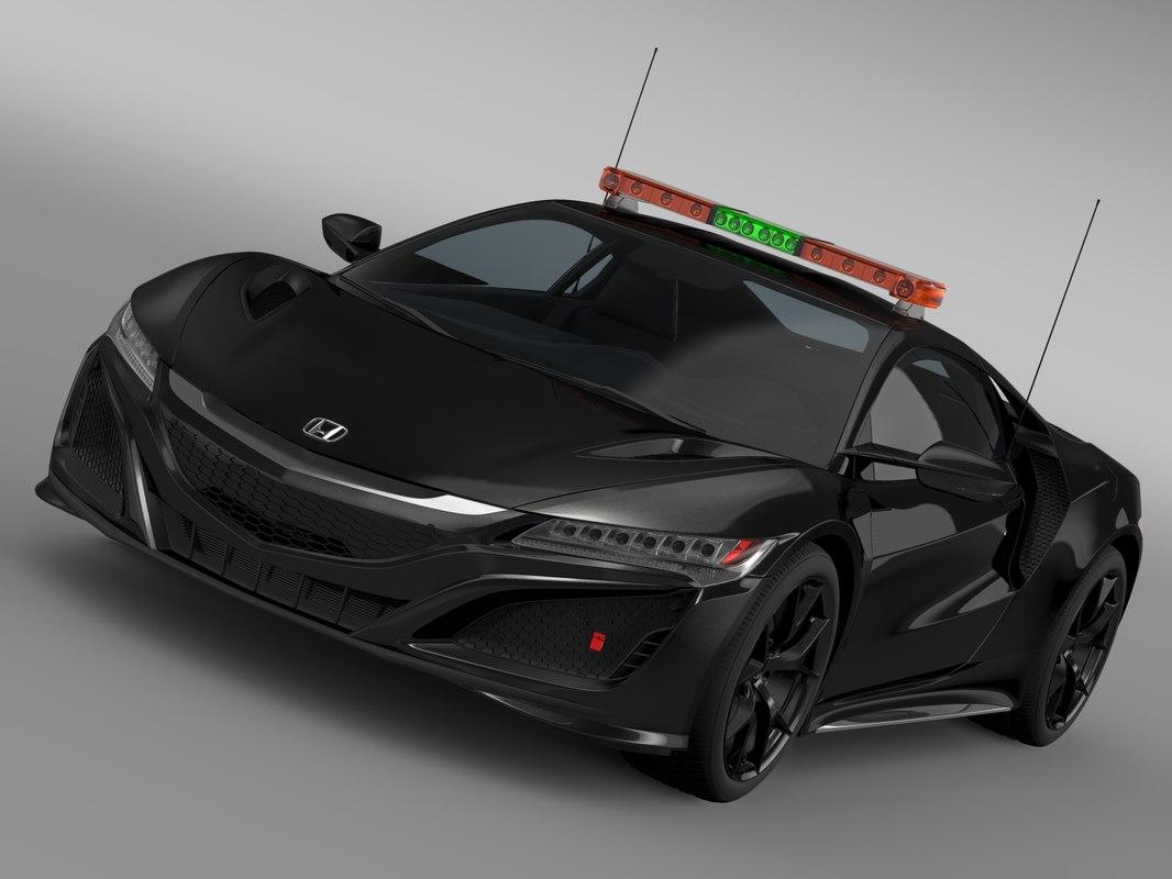 honda nsx safety car 3d model