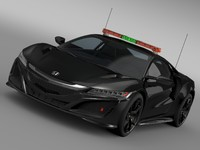 honda nsx safety car 3d model