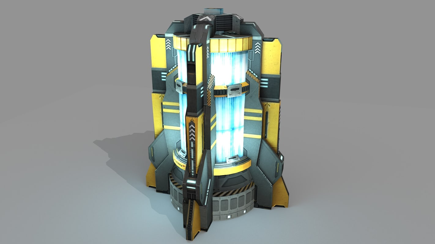 sci fi power generator 3d 3ds