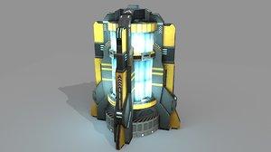 sci fi power generator 3d 3ds