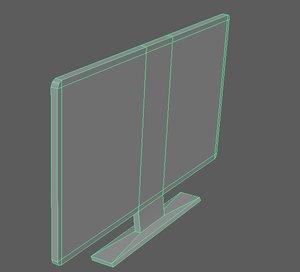 3d model tv monitor