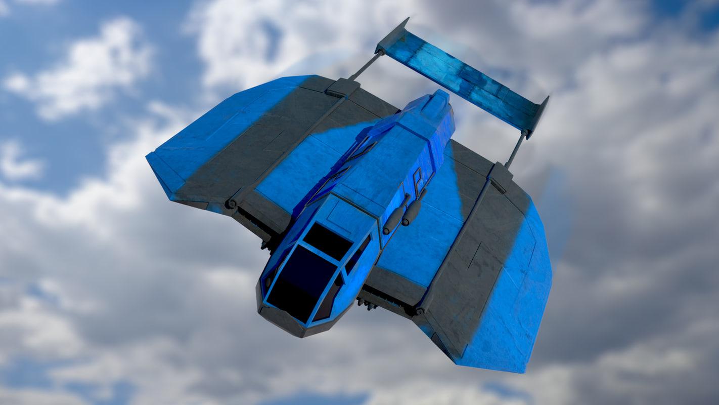 blue bat 3d model