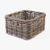 3d model wicker basket ikea byholma