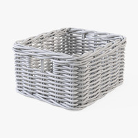 Wicker Basket Ikea Byholma 1(White)