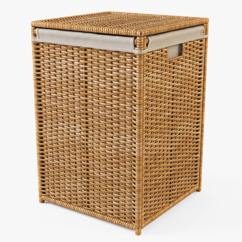 laundry basket ikea branas 3d model