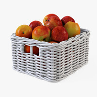 Wicker Apple Basket Ikea Byholma 1(White)
