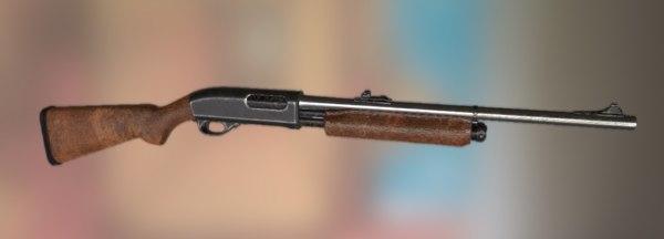 3d remington 870 shotgun model