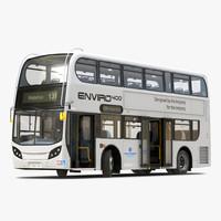 Alexander Dennis Bus Enviro400 Rigged 3D Model