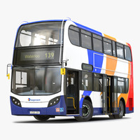 Bus Enviro400 Rigged 3D Model