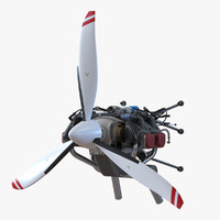 3d piston aircraft engine ulpower