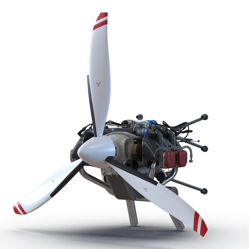 3d piston aircraft engine ulpower
