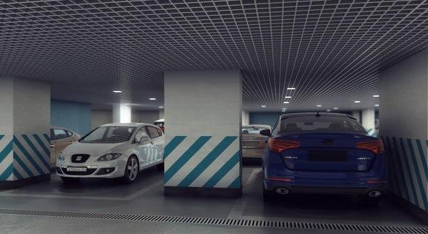max scene underground parking