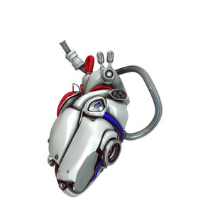 3d model concept cyber heart