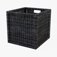 Rattan Basket Ikea Branas(Black Color)