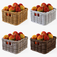 3d model of wicker basket ikea byholma