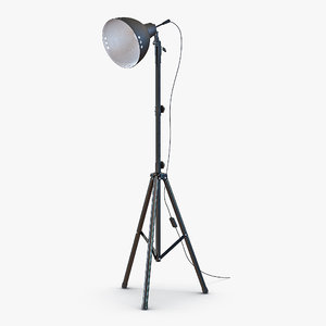 photo studio halogen floor lamp 3d 3ds