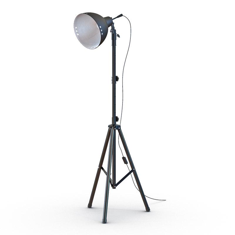 photo studio halogen floor lamp 3d 3ds