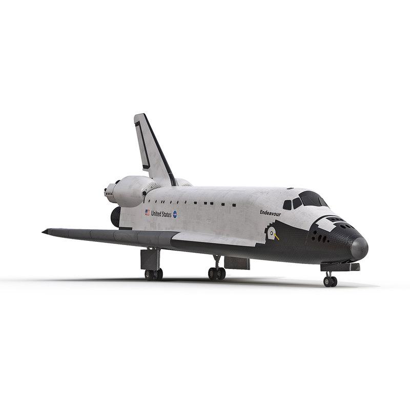 3d model space shuttle endeavour