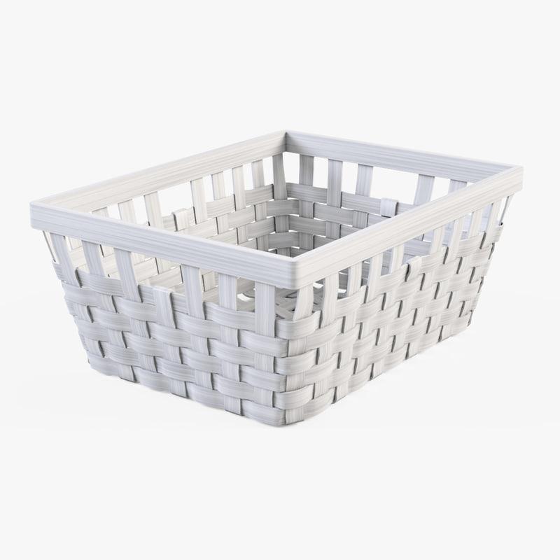 3d model wicker basket ikea knarra
