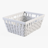 Wicker Basket Ikea Knarra 1(White Color)
