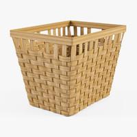 3d wicker basket ikea knarra model