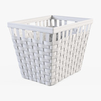 Wicker Basket Ikea Knarra 2(White Color)
