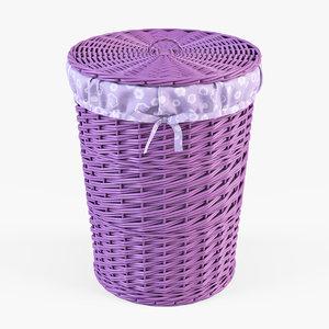3d x wicker laundry basket color