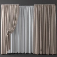 3d model curtains blinds