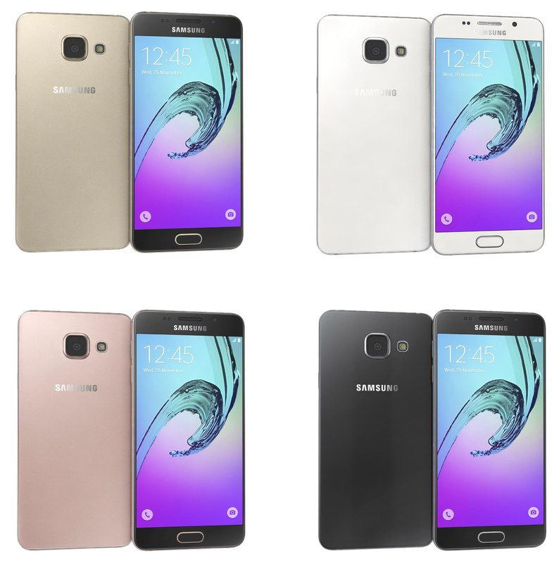 samsung galaxy a3 2016 3d model