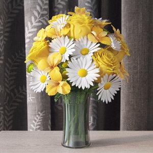 3d bouquet lilies