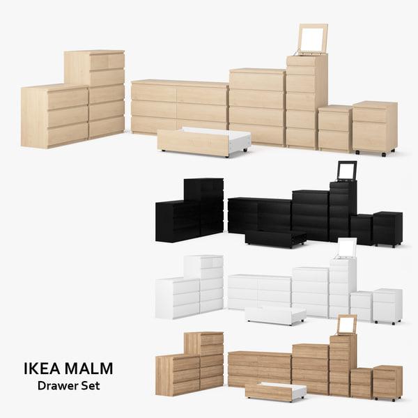 Ikea Malm Schubladen Set