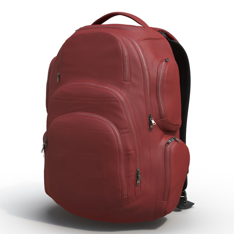 backpack 3 generic modeled c4d