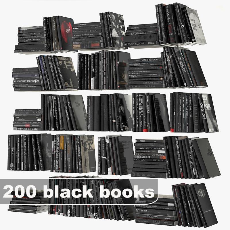 3d model black books set
