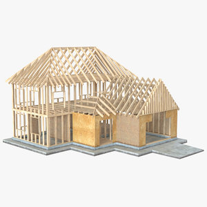 3d model private house construction 6