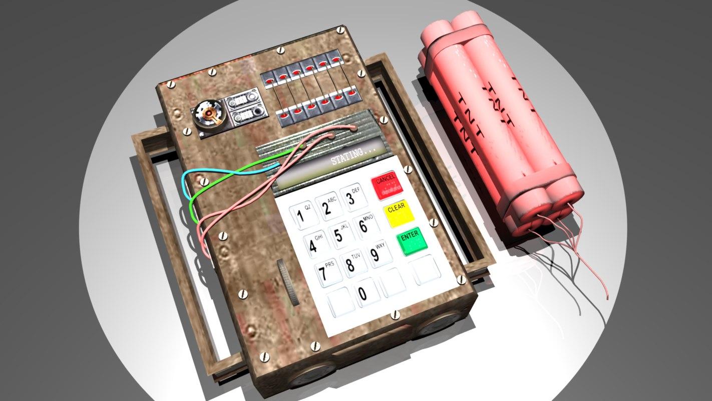 3d model c4 bomb