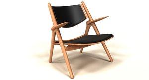 realistic ch28 armchair 3d model