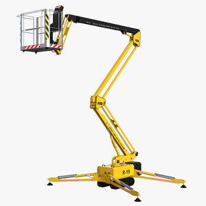 3d telescopic boom lift generic